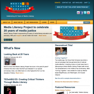 Media Literacy Project Home Page