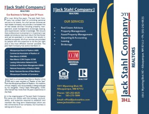 The Jack Stahl Company Brochure - page 1